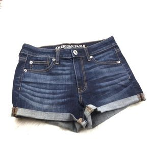American Eagle Hi-Rise Shortie Roll Up Shorts